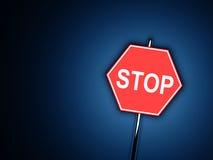 Parada - sinal de estrada Fotografia de Stock