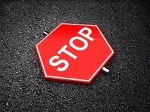 Parada - sinal de estrada Fotos de Stock