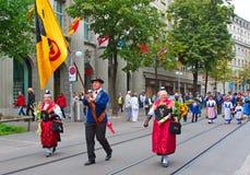 Parada suíça do dia nacional em Zurique Foto de Stock