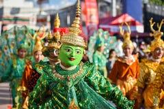Parada tana przedstawienia maski międzynarodowy festiwal 2018 Obraz Stock
