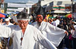 Parada tana przedstawienia maski międzynarodowy festiwal 2018 Zdjęcia Stock