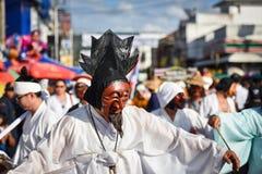 Parada tana przedstawienia maski międzynarodowy festiwal 2018 Fotografia Stock