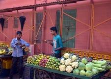 Parada vegetal en Rishikesh Fotografía de archivo