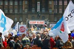 Parada Vlade del acontecimiento de la protesta Imagen de archivo libre de regalías