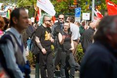 Parada Vlade del acontecimiento de la protesta Fotografía de archivo