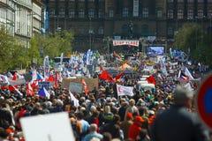 Parada Vlade del acontecimiento de la protesta Fotos de archivo