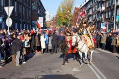 Parada z okazji dnia niepodległości Fotografia Stock
