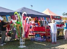 Paradas coloridas del mercado Imagen de archivo libre de regalías