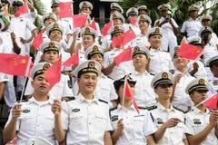 19 11 2017 paradas 2017 navais, internacionais internacionais do aniversário do ` s 50 do asean da revisão da frota em Pattaya, T Fotos de Stock