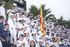 19 11 2017 paradas 2017 navais, internacionais internacionais do aniversário do ` s 50 do asean da revisão da frota em Pattaya, T Imagem de Stock Royalty Free