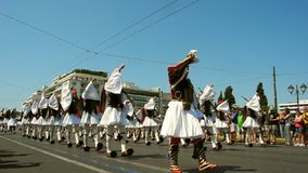 Paradeändern des Schutzes in Athen stock video