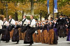 Parade. Breton Parade in Paris Breizh Touch Royalty Free Stock Photos