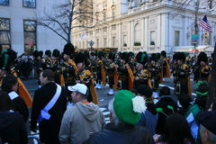 Parade. Bagpipers in New York's St. Patrick's Day Parade Royalty Free Stock Photo