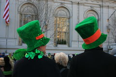 Parade. People watching the St. Patrick's Day Parade in Manhattan Stock Image