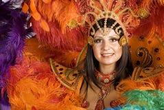 Parade. Beautiful carnival dancer, amazing costume