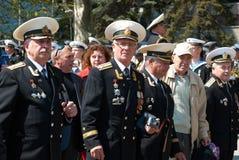 Parade 9. Mai 2009 des russischen Veterans Stockfotografie