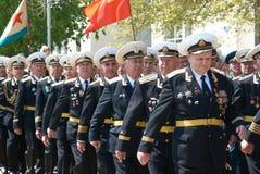 Parade 9. Mai 2009 des russischen Veterans Lizenzfreie Stockfotos