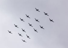 Parade of airplanes Stock Photography