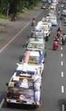 Parade of ambulances ornamental Stock Photo