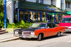 Parade of American cars Buick in Palanga Royalty Free Stock Images