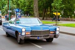 Parade of American cars Cadillac in Palanga Royalty Free Stock Photos