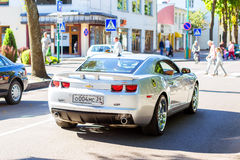 Parade of American cars Chevrolet in Palanga Stock Image