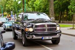 Parade of American cars doodge in Palanga Royalty Free Stock Photos