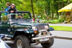 Parade of American cars Jeep in Palanga Stock Photo