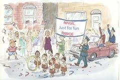 Parade. The Annual 'Just for Fun' Parade Stock Photos