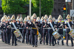 Parade with the the Army Music Corps Royalty Free Stock Image