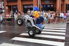 Parade auf Broadway in Nashville, Tennessee Lizenzfreies Stockfoto
