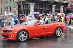 Parade auf Broadway in Nashville, Tennessee Stockbilder