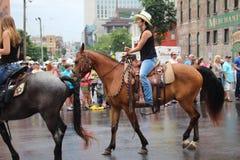 Parade auf Broadway in Nashville, Tennessee Lizenzfreie Stockfotos