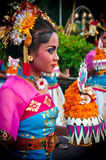Parade of Balinese Girl with traditional dress Stock Images