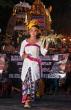 Parade of Balinese Girl with traditional dress Stock Image
