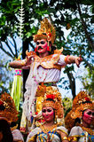 Parade of Balinese Girl with traditional dress Royalty Free Stock Photo
