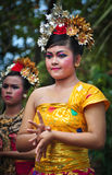 Parade of Balinese Girl with traditional dress Stock Photography