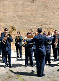 Parade band, wind instruments Stock Photos