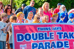 Parade banner Stock Images