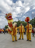 Parade in Barcelona of Chinese New Year. Royalty Free Stock Image