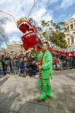 Parade in Barcelona of Chinese New Year. Stock Images