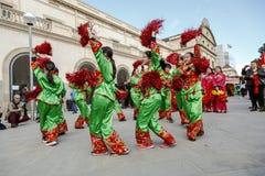 Parade in Barcelona des Chinesischen Neujahrsfests Lizenzfreies Stockfoto