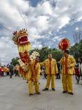 Parade in Barcelona des Chinesischen Neujahrsfests Lizenzfreies Stockbild