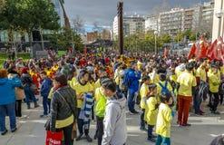 Parade in Barcelona des Chinesischen Neujahrsfests Stockfoto