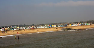 Parade of beach huts Stock Photo