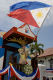 Parade of Beauties. Young women in local costumes parading during the celebration of the independence of the Philippines in Kawit, Cavite Stock Image