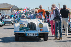 Parade of beautiful old English cars Royalty Free Stock Photography