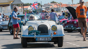 Parade of beautiful old English cars Royalty Free Stock Image