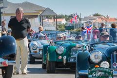Parade of beautiful old English cars Stock Images