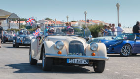 Parade of beautiful old English cars Royalty Free Stock Photo